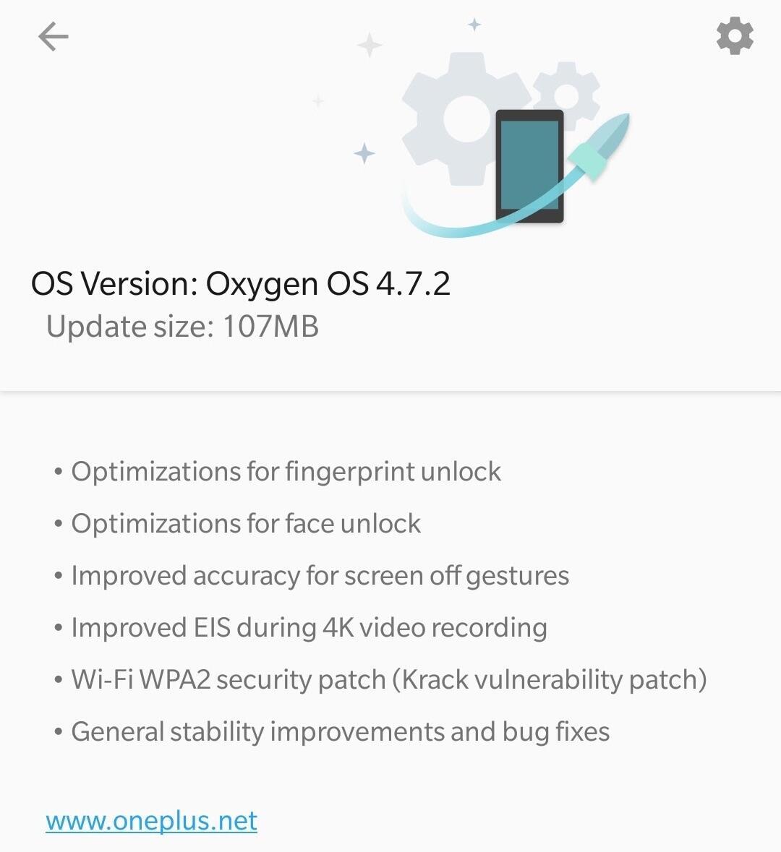Oneplus 5t Update