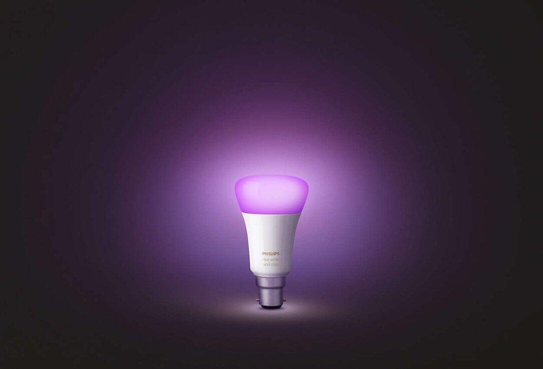 Hue Lampen Philips : Philips hue starterset mit drei farbigen lampen für euro