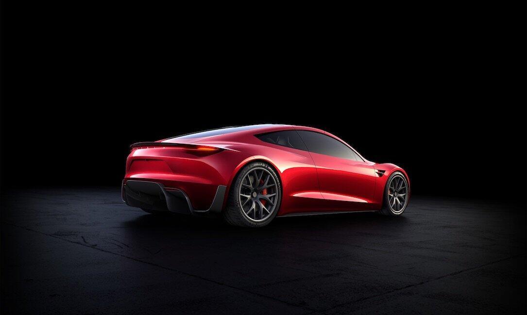 Tesla Roadster Back