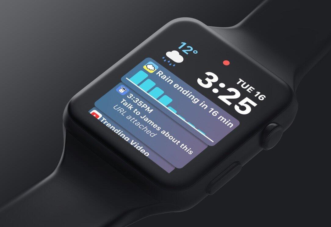 Apple Watchos 5 Konzept Siri