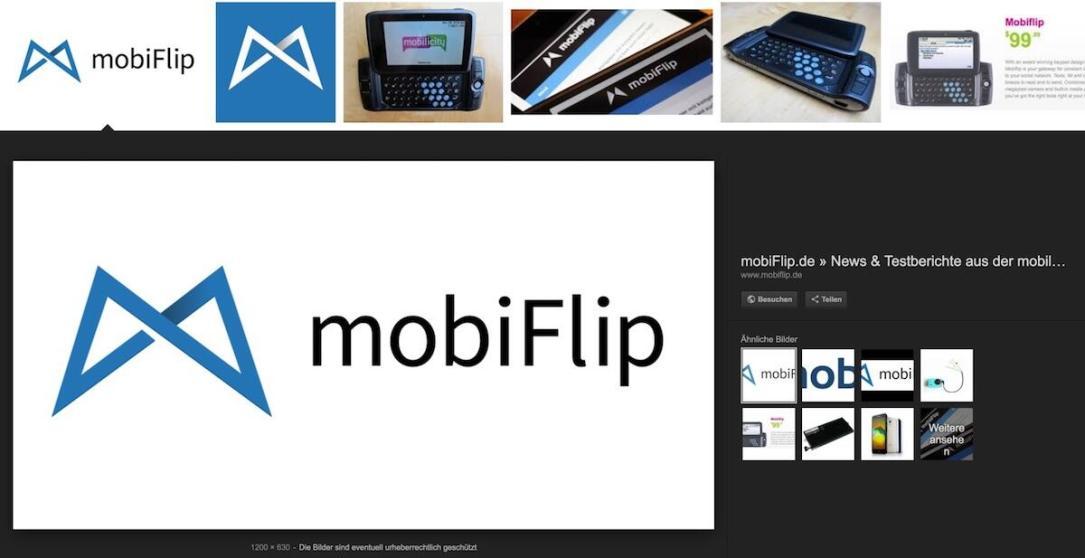 Mobiflip Google Suche Bild