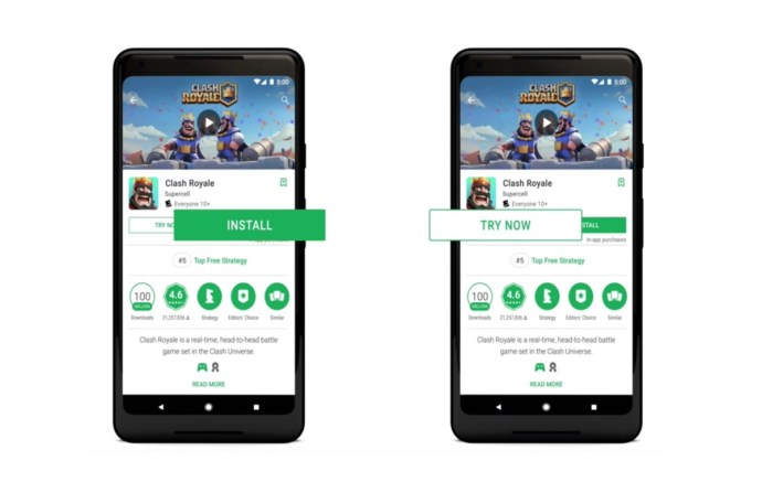 Google Play Android Instant Apps Header
