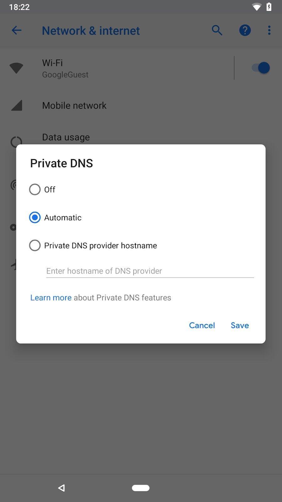 Android P Gesten Screen