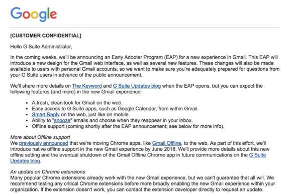Gmail Redesign 2018 Funktionen