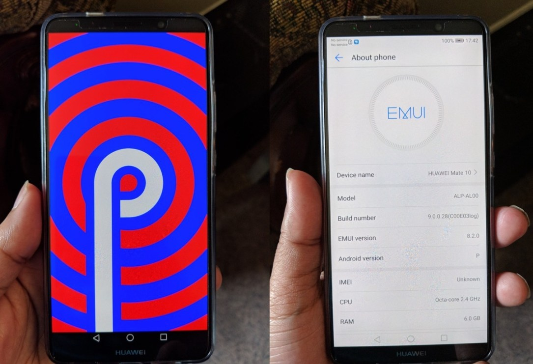 Huawei Mate 10 Pro Android P Update