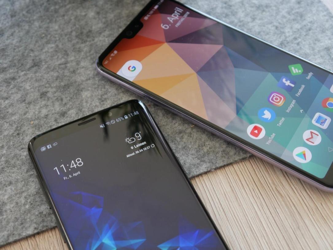 Huawei P20 Pro Samsung Galaxy S9 Vgl2
