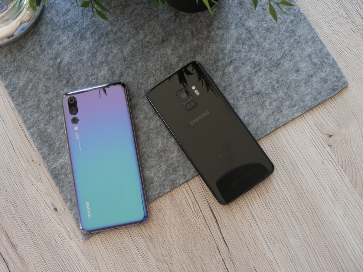 Huawei P20 Pro Samsung Galaxy S9 Vgl3