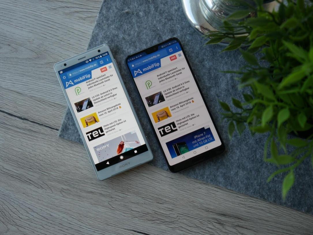 Sony Xperia Xz2 Huawei P20 Pro Vgl3