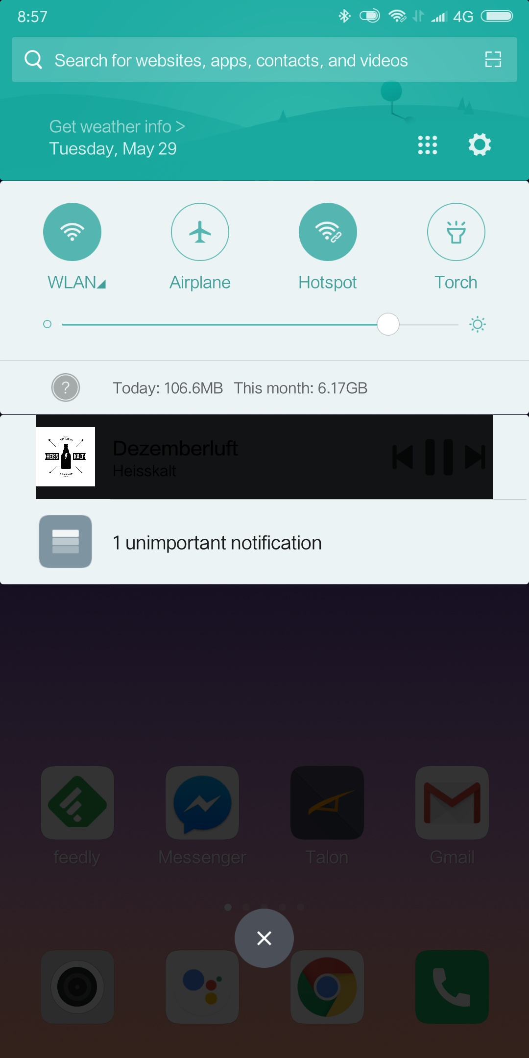 Xiaomi Mi Mix 2s Notifications