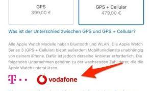 Apple Watch Vodafone