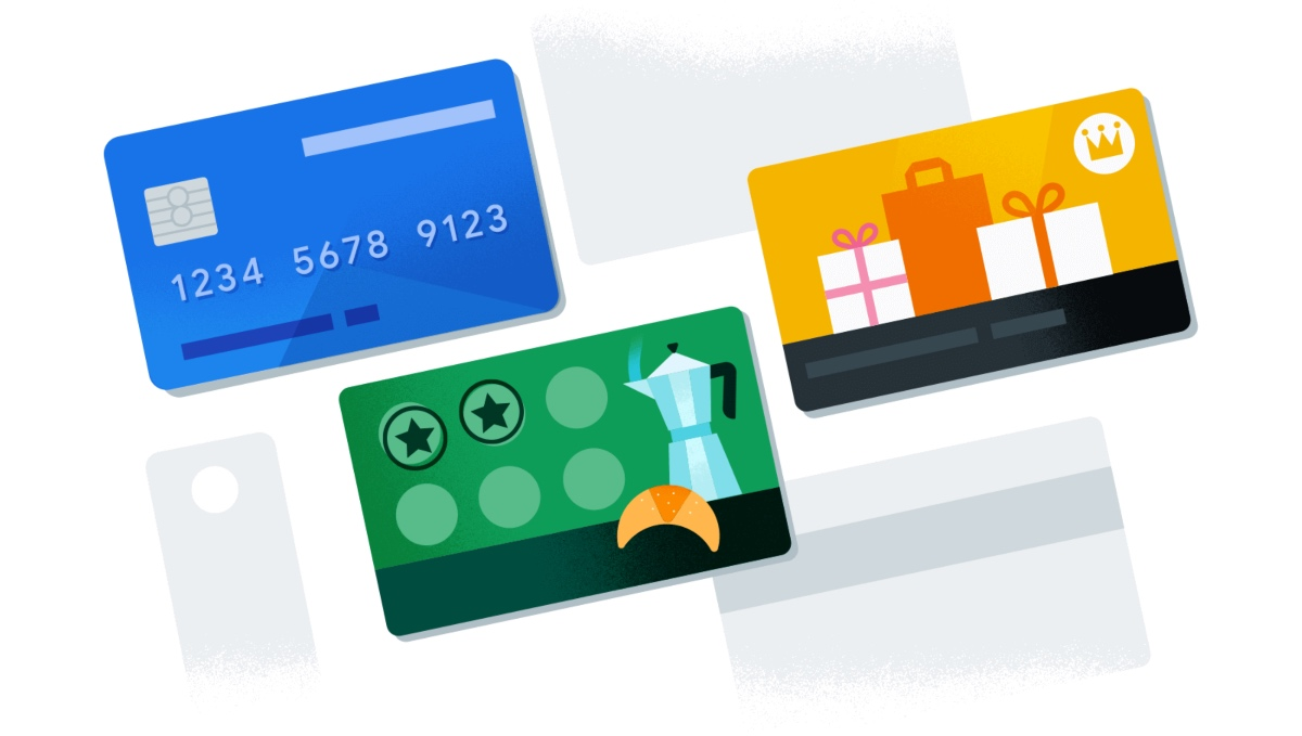 Google Pay Cards Header