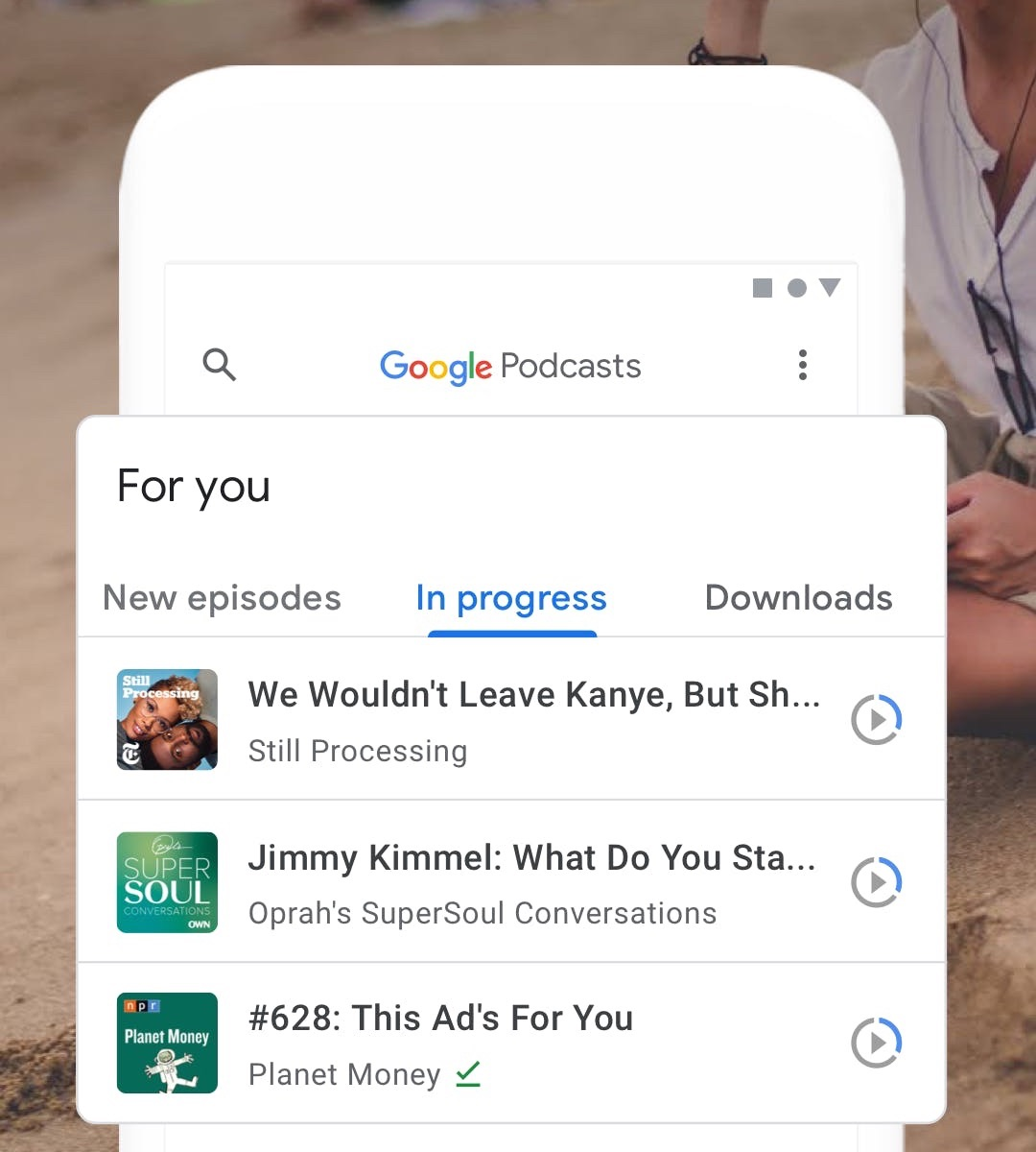 Google Podcasts Android App