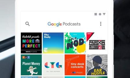 Google Podcasts Header