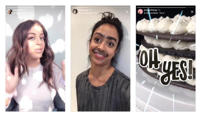 Instagram Kamera Effekte