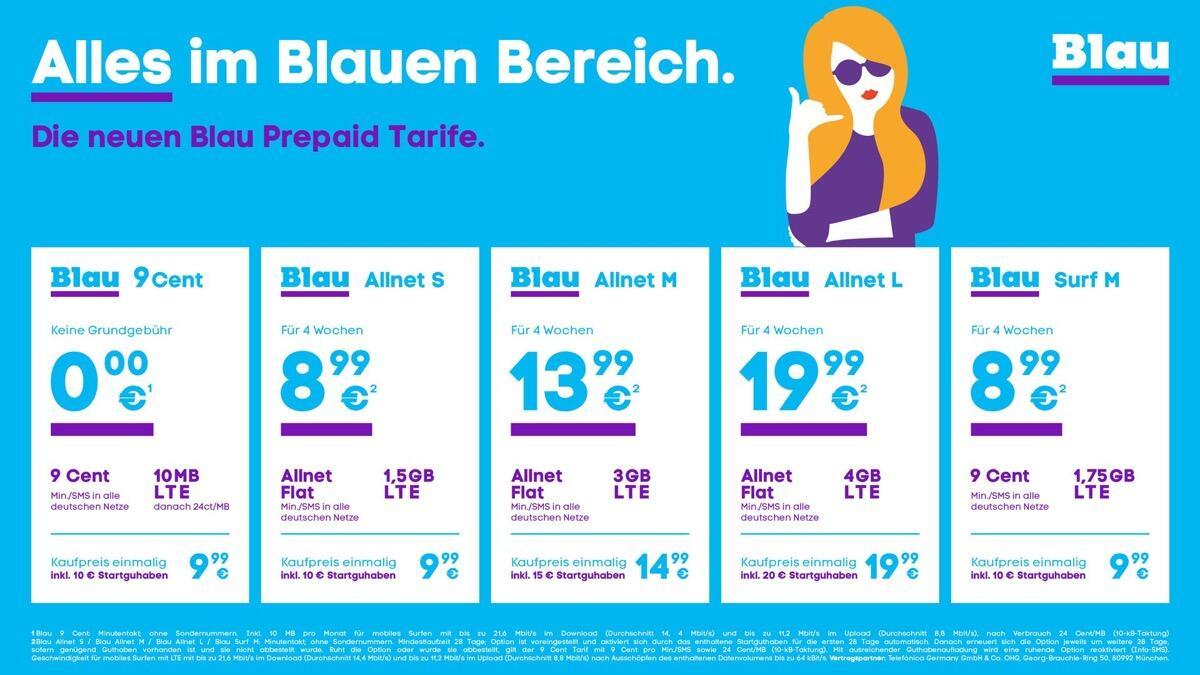 Blau Prepaid Tarife