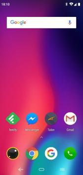 Elephone A4 Homescreen