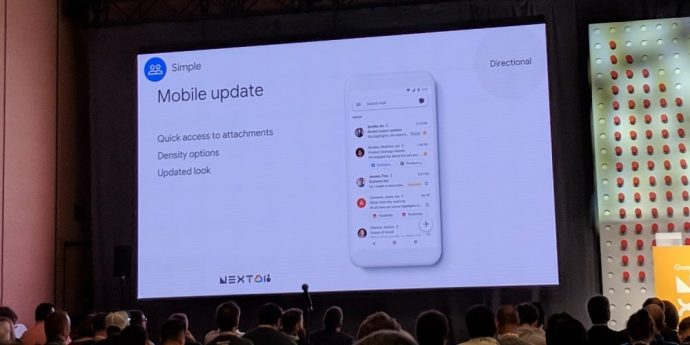 Gmail Android Design 2018