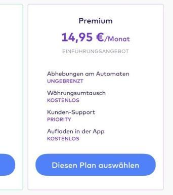 Monese Premium Plus:2