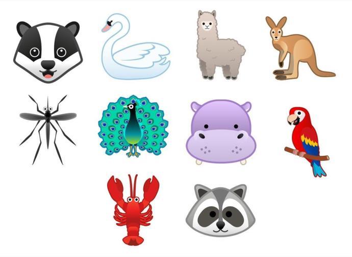 Android 9 Pie Emoji Animals