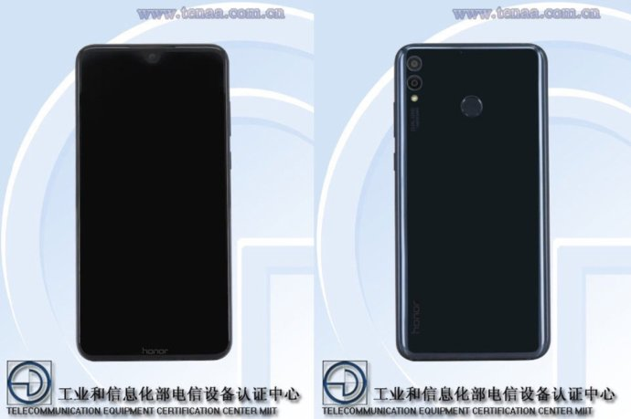 Honor 8x Front Back