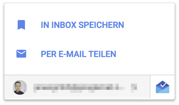 In Inbox Speichern