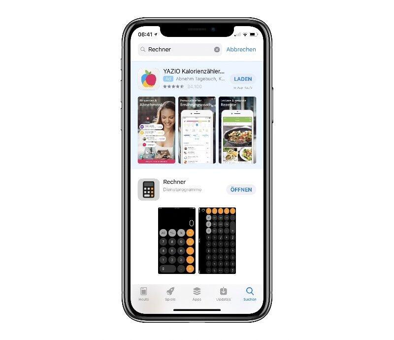 Such Anzeigen App Store Apple