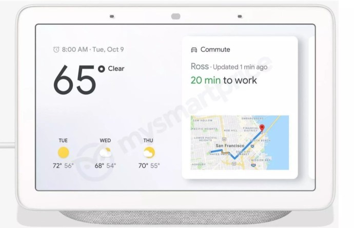 Google Home Hub Front