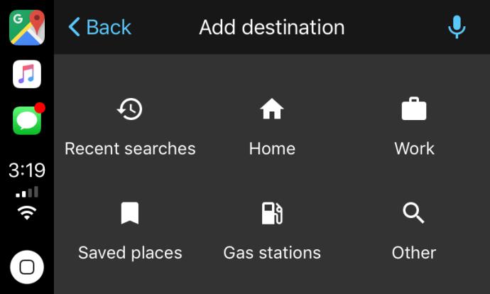 Google Maps Apple Carplay Screen1