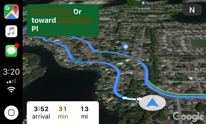 Google Maps Apple Carplay Screen2