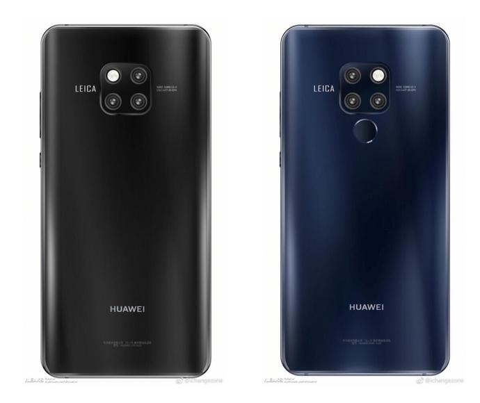 Huawei Mate 20 Render Blau Schwarz