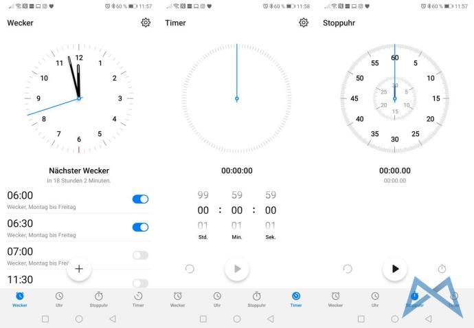 Huawei P20 Pro Android 9 Emui 9.0.0 Beta Uhr Wecker Stoppuhr