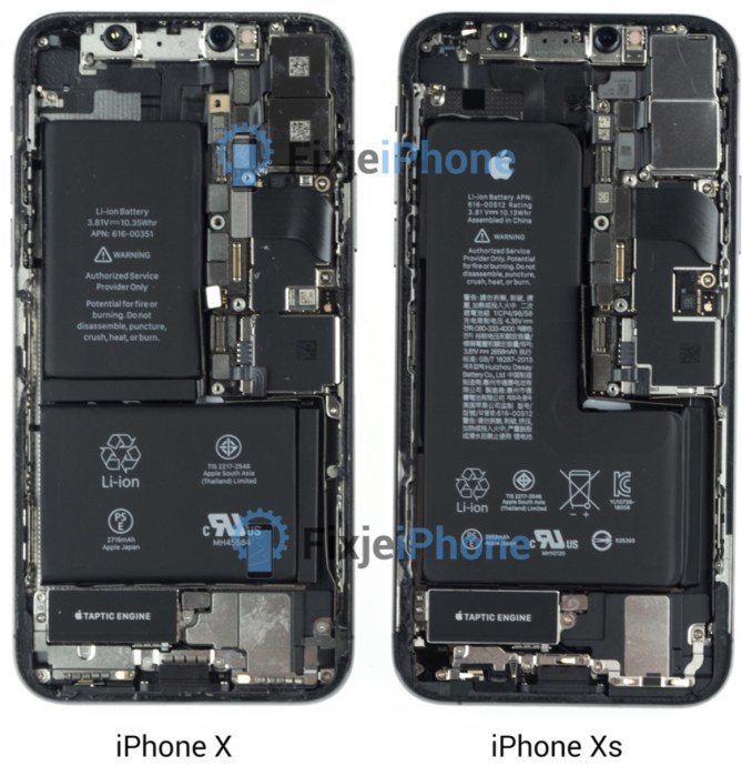 Iphone Xs Teardown Vs