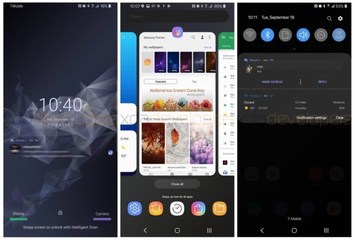 Samsung Galaxy S9 Android 9 Pie Screenshots