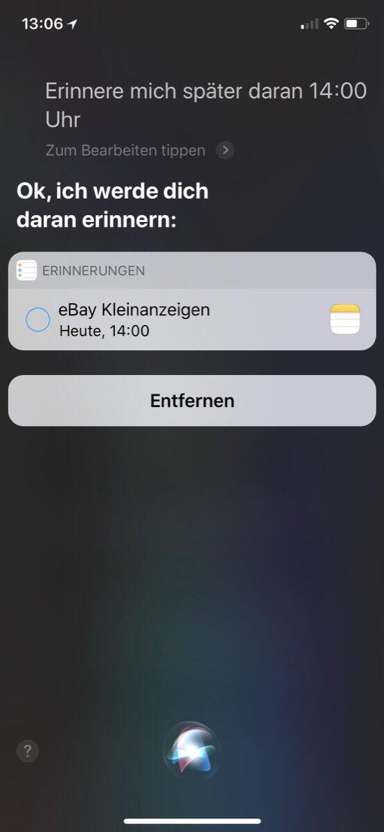 Siri Ios Erinnerung 3