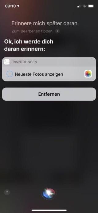 Siri Ios Erinnerung 6