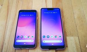 Pixel 3 und Pixel 3 XL im Case