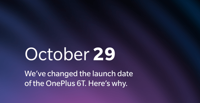 Oneplus 6t New Date