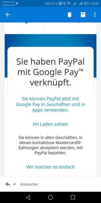 Paypal Google Pay Neu