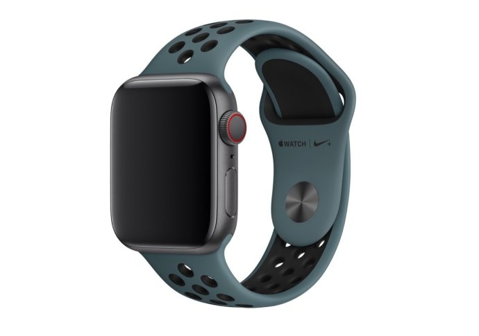 Apple Watch Celestial Teal:schwarz Nike Sportarmband