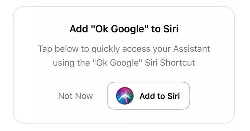 Google Assistant Siri Shortcut