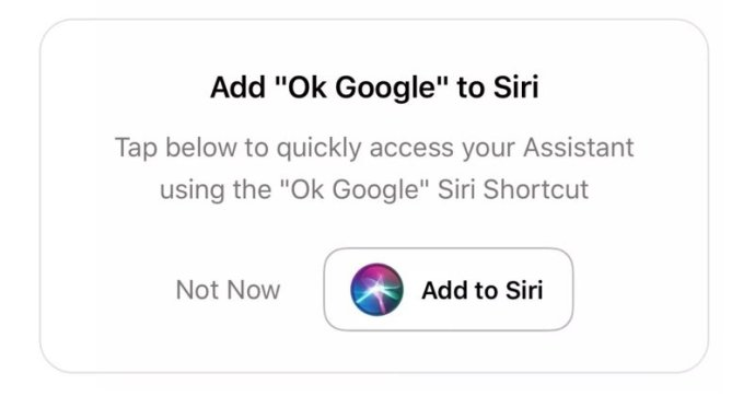 Google Assistant Siri Shortcut