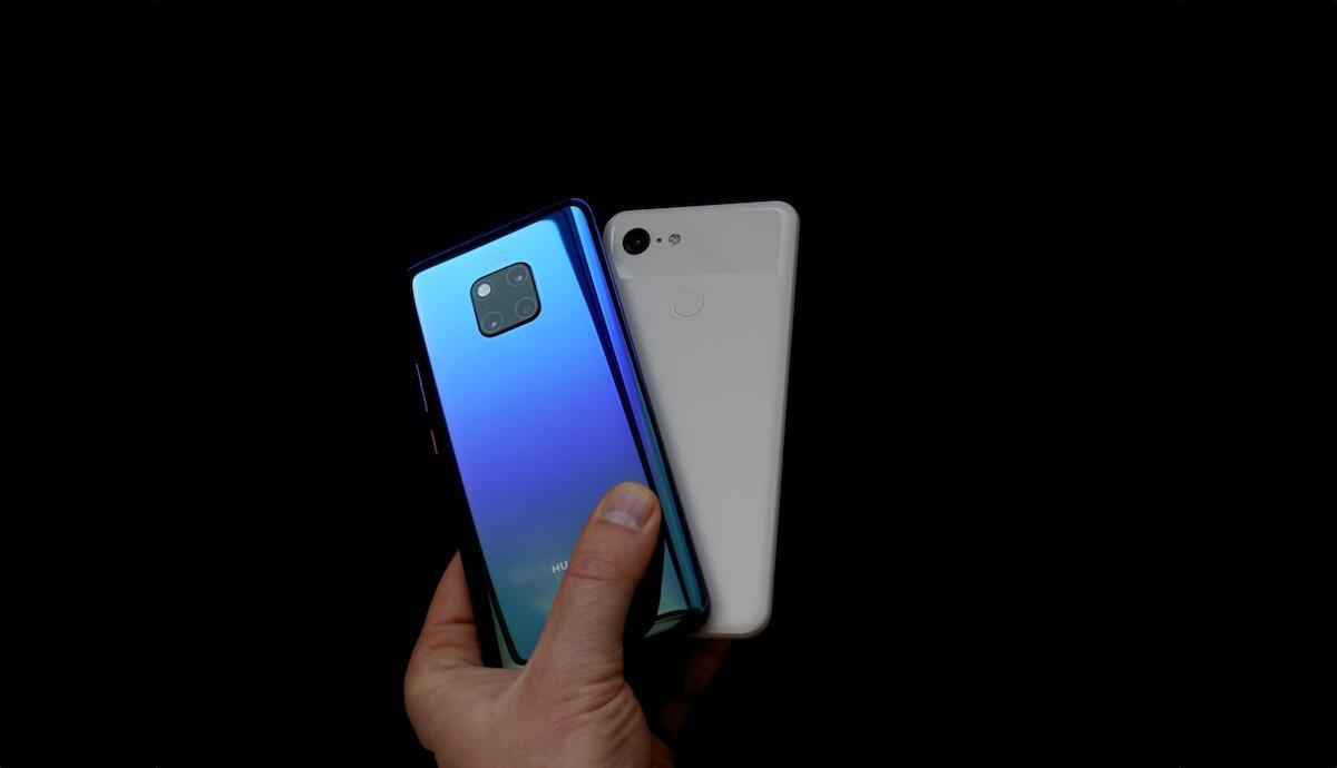 Huawei Mate 20 Pro Google Pixel 3 Header