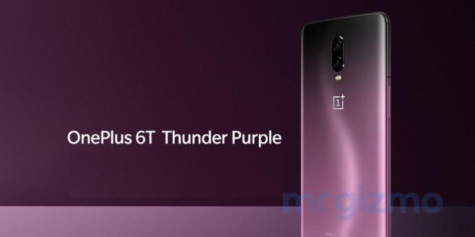 Oneplus 6t Thunder Purple Leak Hinten