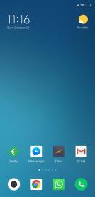 Xiaomi Mi 8 Homescreen