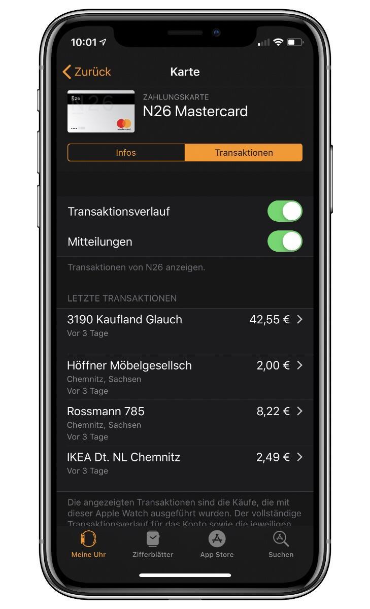 Apple Pay Wallet Watch