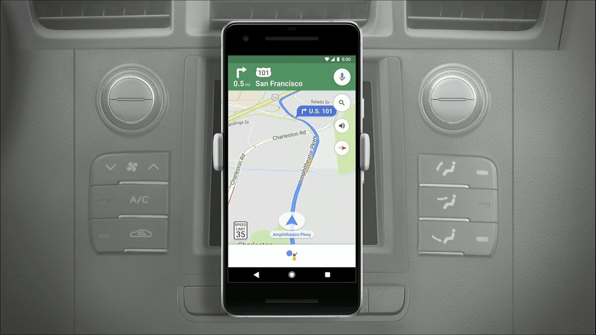 Google Maps Assistant Header