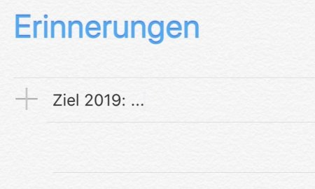 Vorsatz Ziel 2019