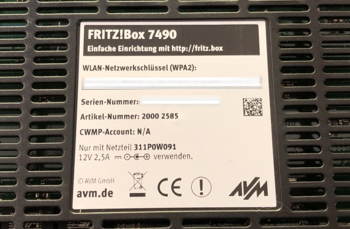 Fritzbox 7490 1und1 Avm