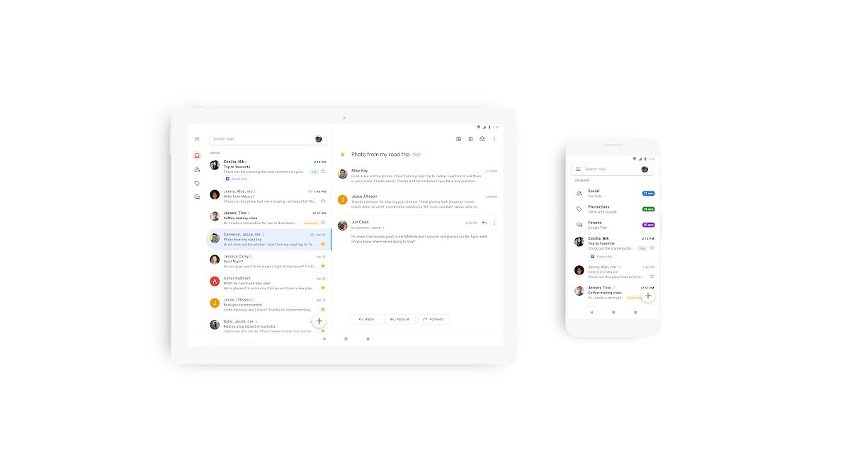 Gmail Neu Header