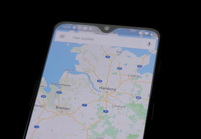 Google Maps Android Dunkel Header
